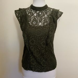 Romeo & Juliet Couture Olive Lace Top